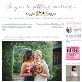 Featured on So Youre Getting Married Blog Bury Court Barn Wedding