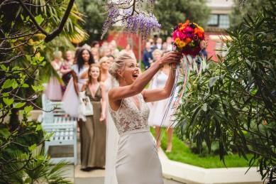 Carley Tom Kensington Roof Garden London Wedding Photography