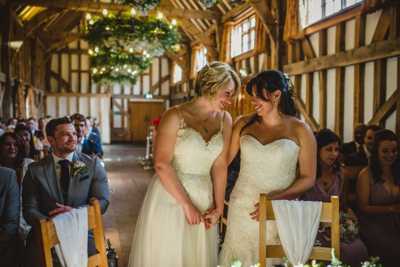 Gemma Emma Gate Street Barn Surrey Wedding Photography