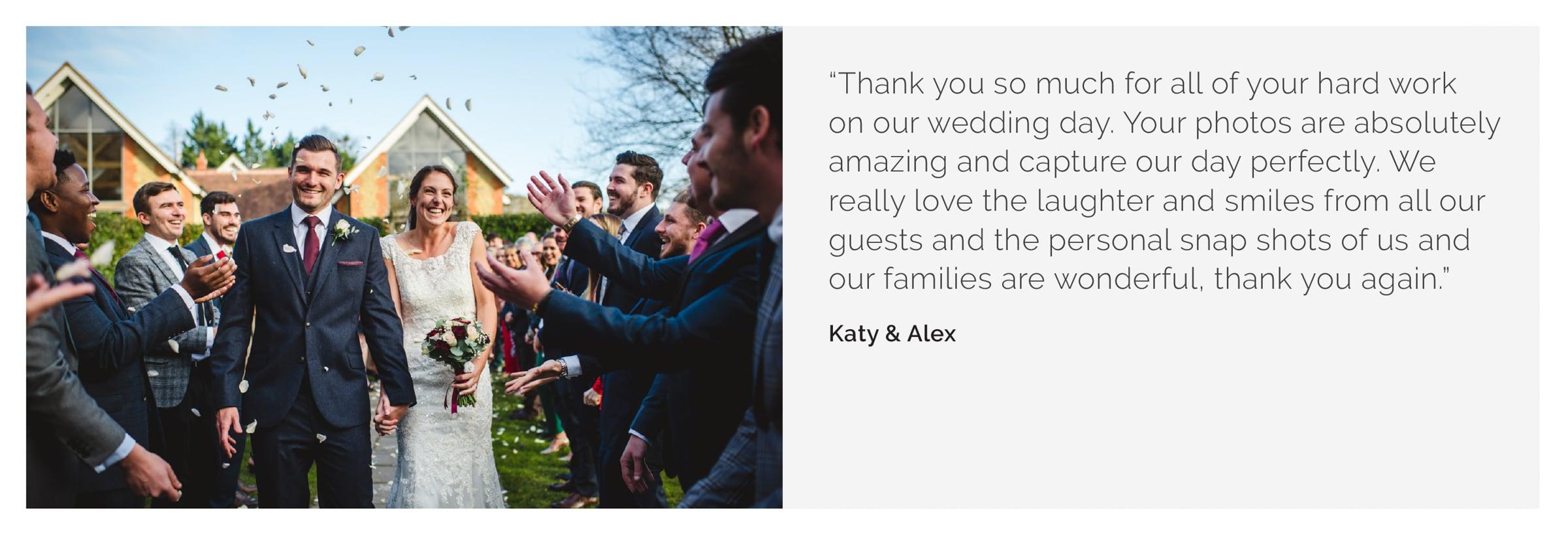 Millbridge Court wedding photography Katy Alex