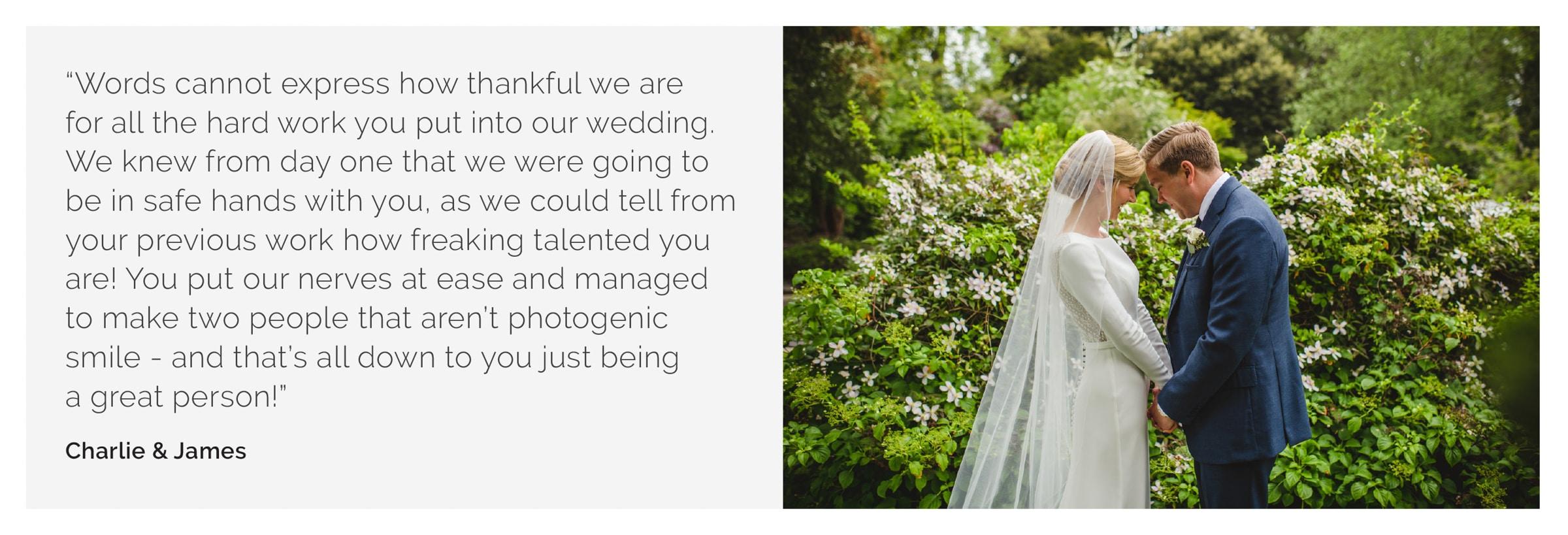 Surrey wedding photography Charlie James